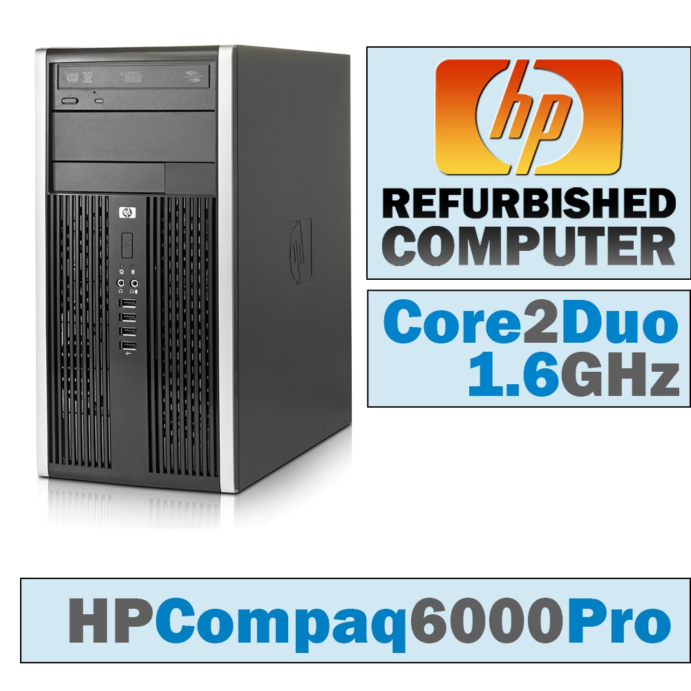 HP Compaq 6000 Pro MT/Core 2 Duo E8500 @ 3.17 GHz/DVD-RW