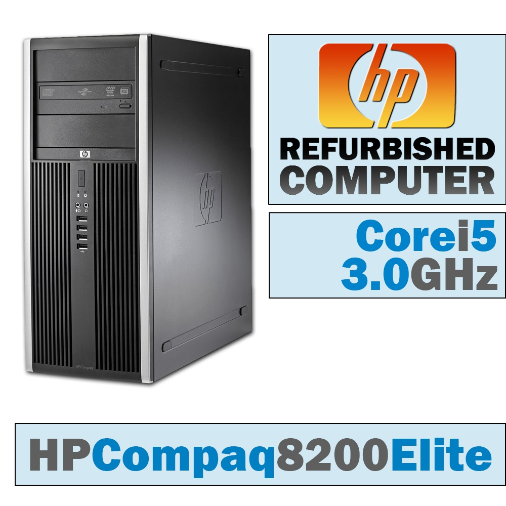HP Compaq 8200 Elite CMT/Core i5-2400 @ 3.1 GHz/DVD-RW