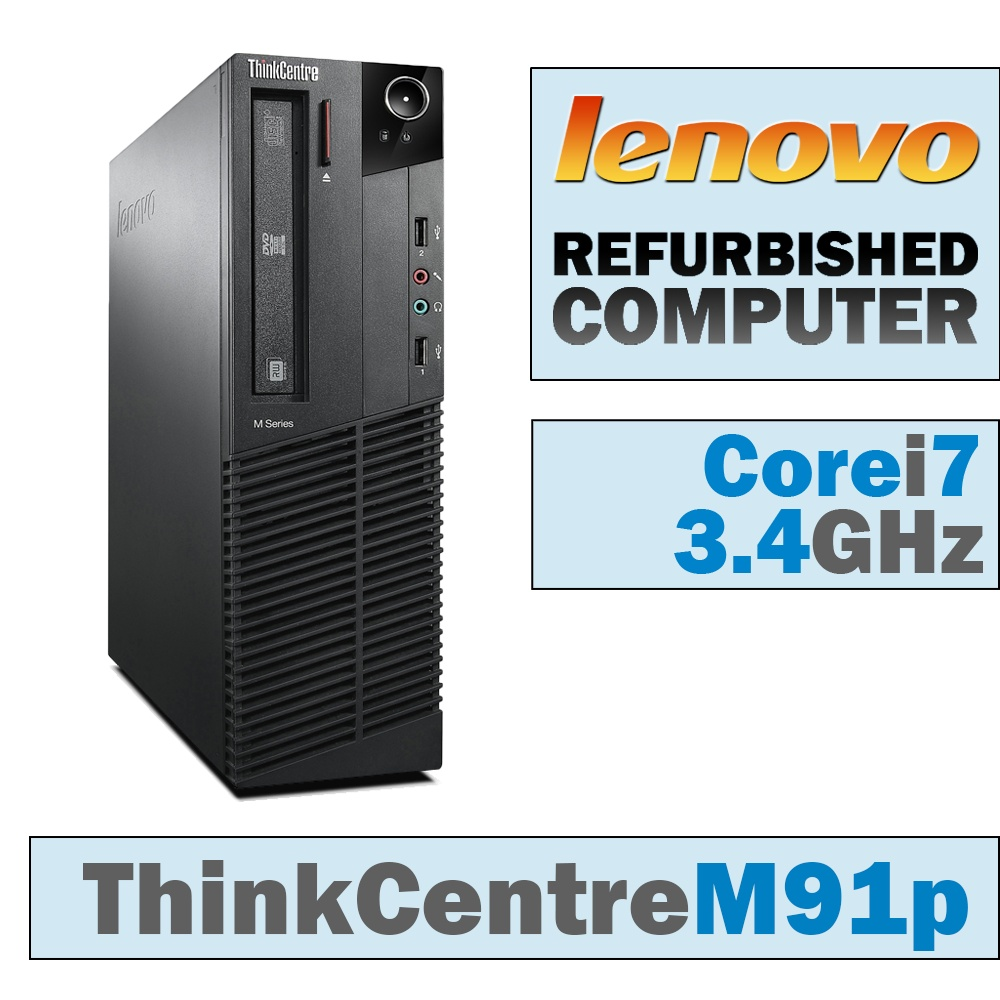Lenovo ThinkCentre M91p SFF/Core i7-2600 Quad @ 3.4 GHz/DVD-RW